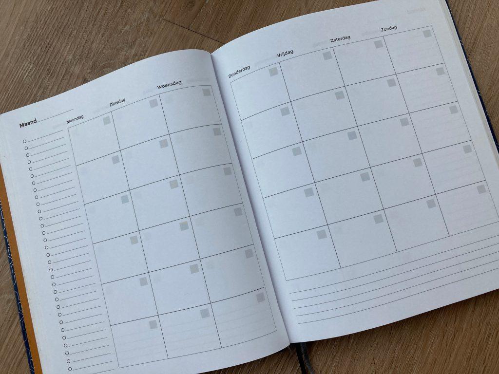 fijne planner maandoverzicht